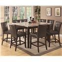 Coaster Milton 9 Piece Dining Set - Item Number: 103778+8x79