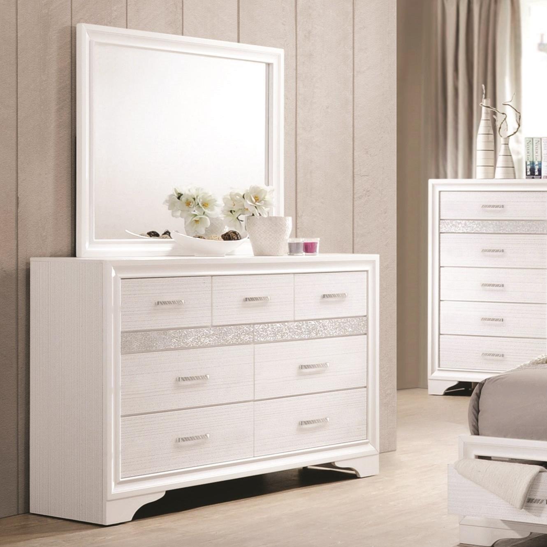 Coaster Miranda 7 Drawer Dresser & Mirror with Wood Frame ...