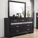 Coaster Miranda 7 Drawer Dresser and Mirror - Item Number: 206363+206364