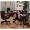 Coaster Mitchell 3-in-1 Game Table - 100201 - Shown with Game Chairs