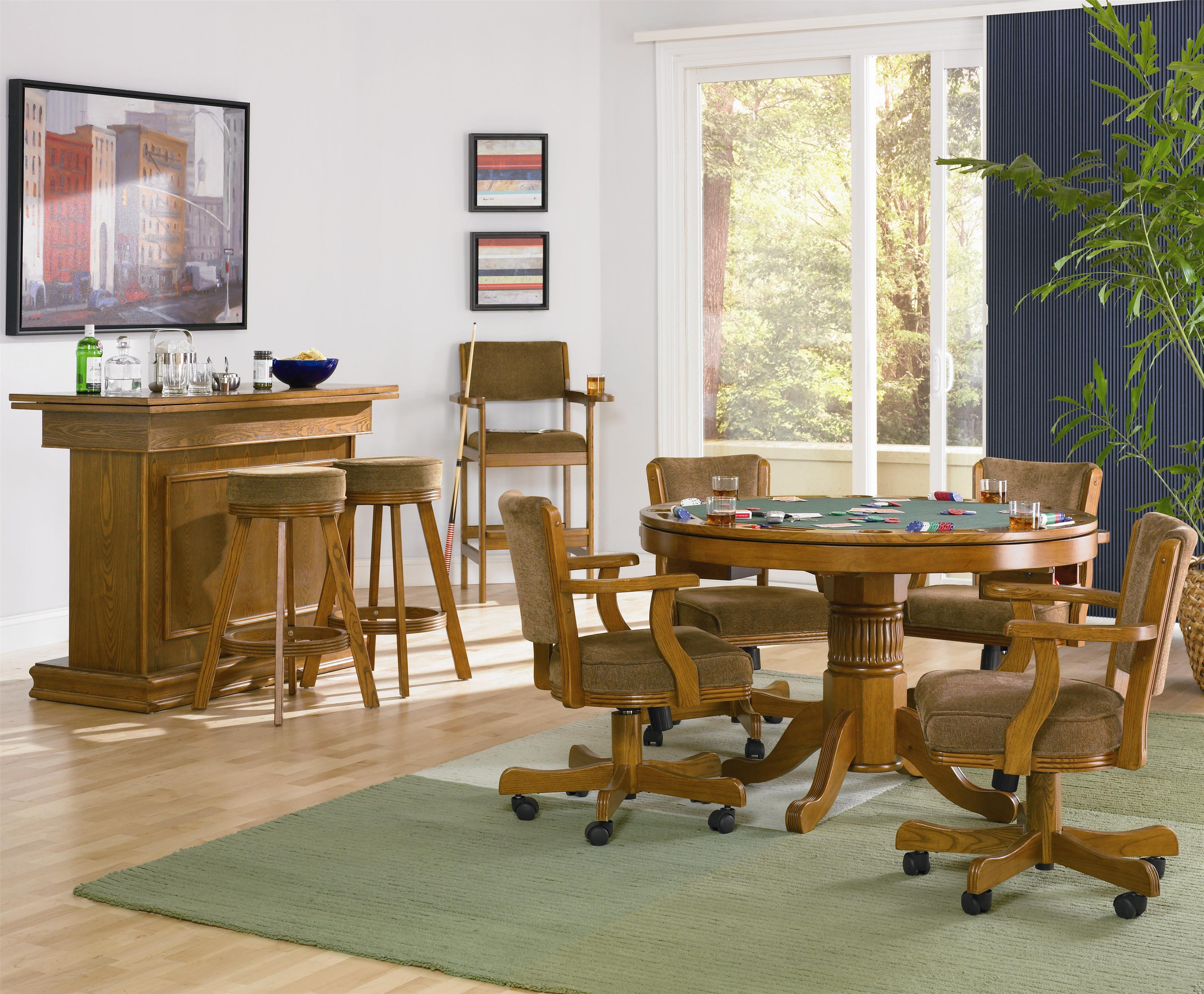 Coaster Mitchell 5 Piece 3 In 1 Game Table Set Dunk