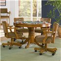 Coaster Mitchell Upholstered Arm Game Chair - Shown with Game Table