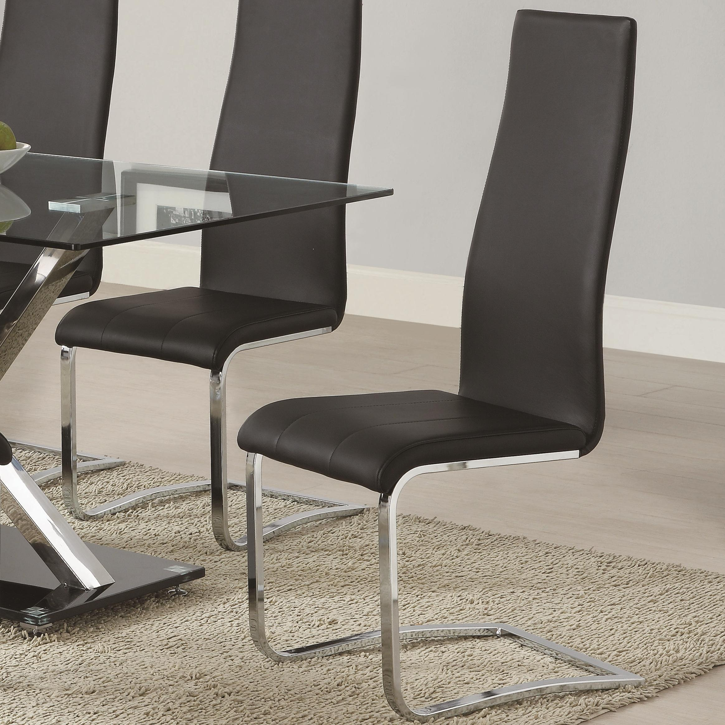 Coaster Modern Dining Black Dining Chair - Item Number: 100515BLK