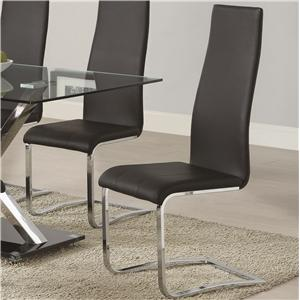 Coaster Modern Dining Black Dining Chair