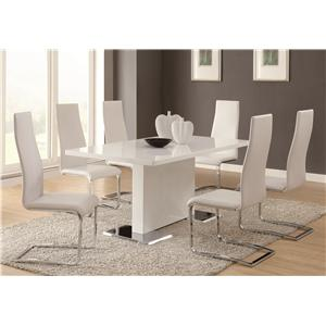 Coaster Modern Dining 7 Piece Table & Chair Set