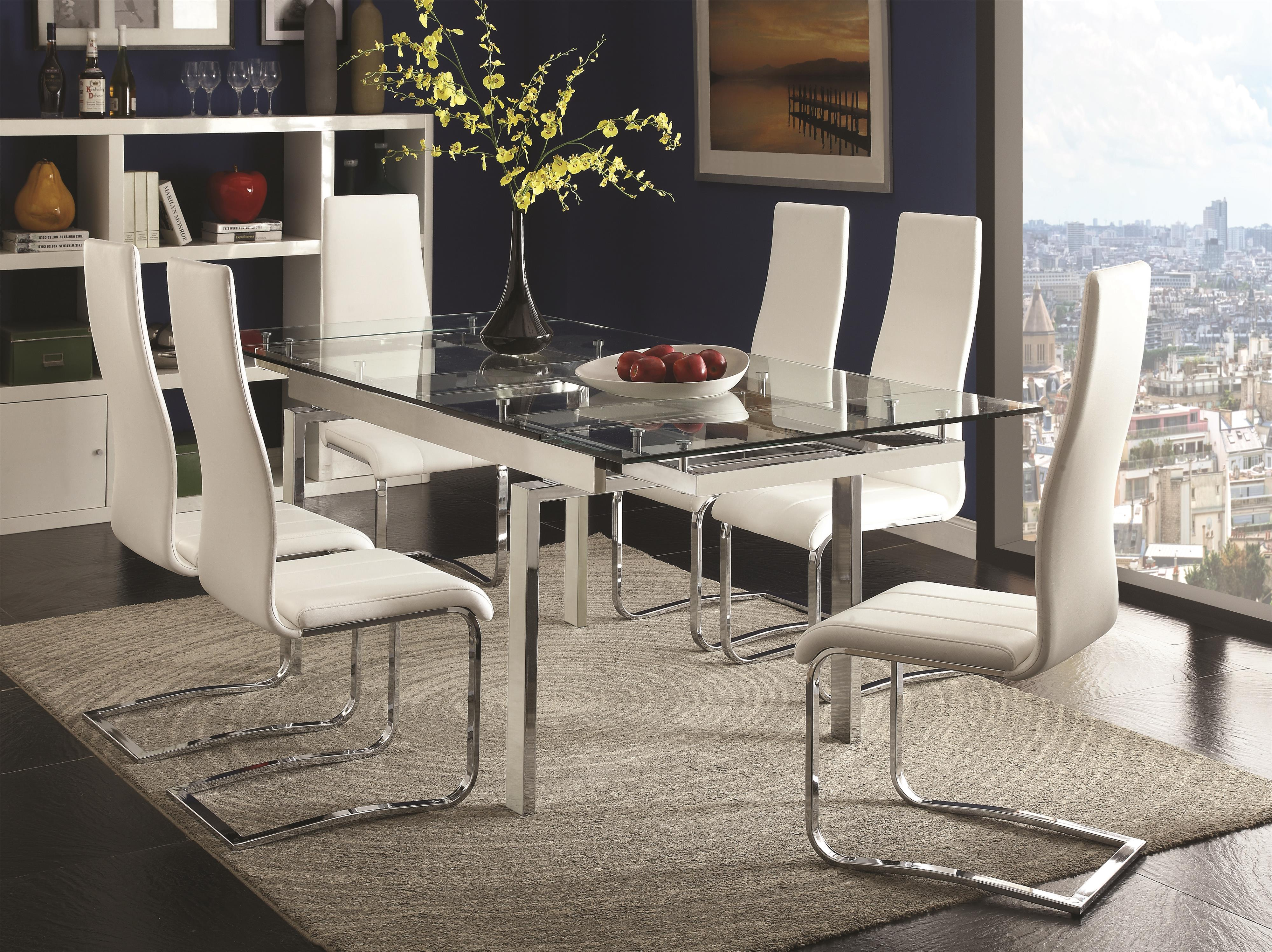 modern furniture dining room | Coaster Modern Dining Contemporary Dining Room Set With ...