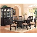 Coaster Monaco Dining Side Chair with Fabric Seat - Shown in Room Setting with Buffet/Hutch, Arm Chairs, and Dining Table