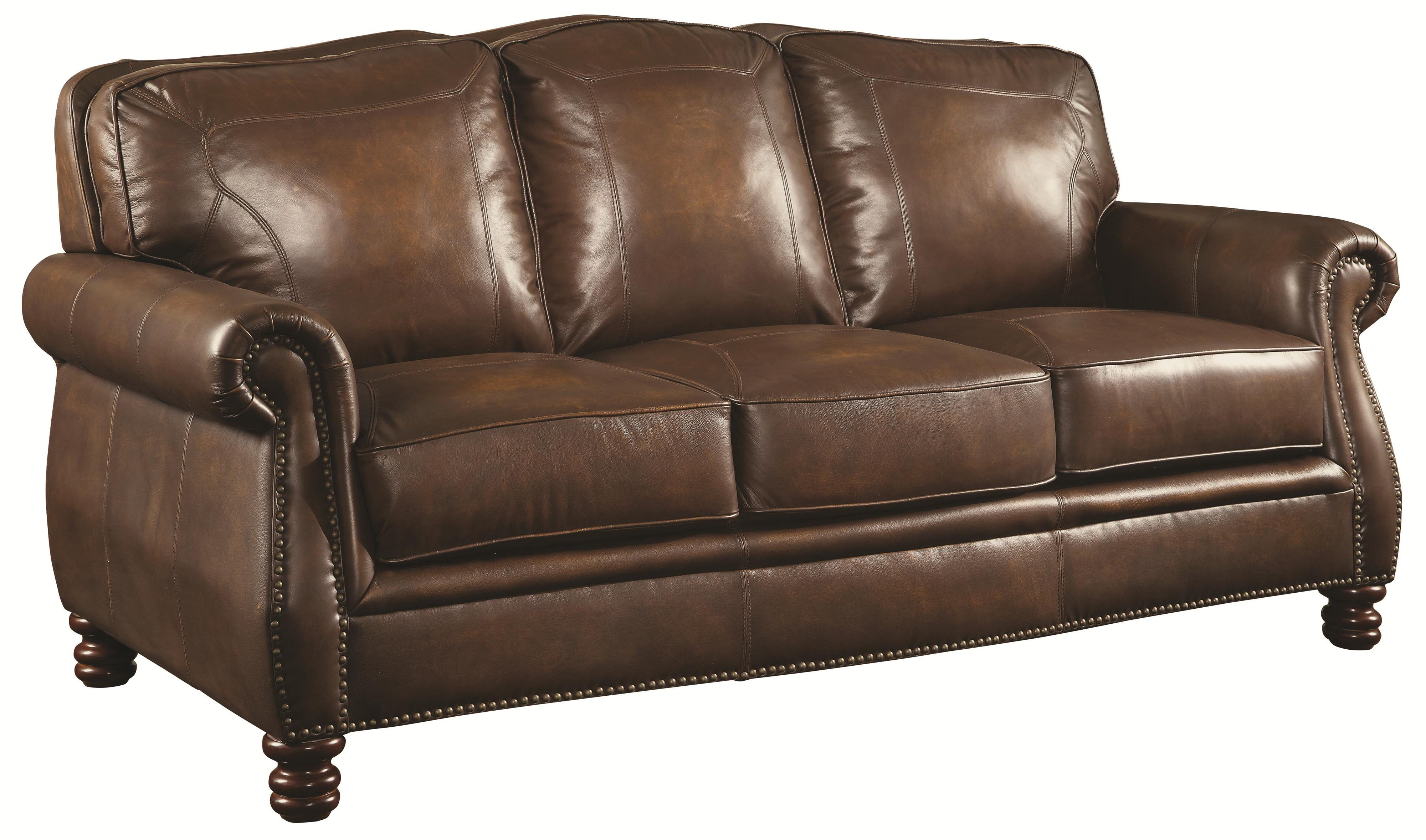 Coaster Montbrook Sofa - Item Number: 503981-Hand Rubbed Brown