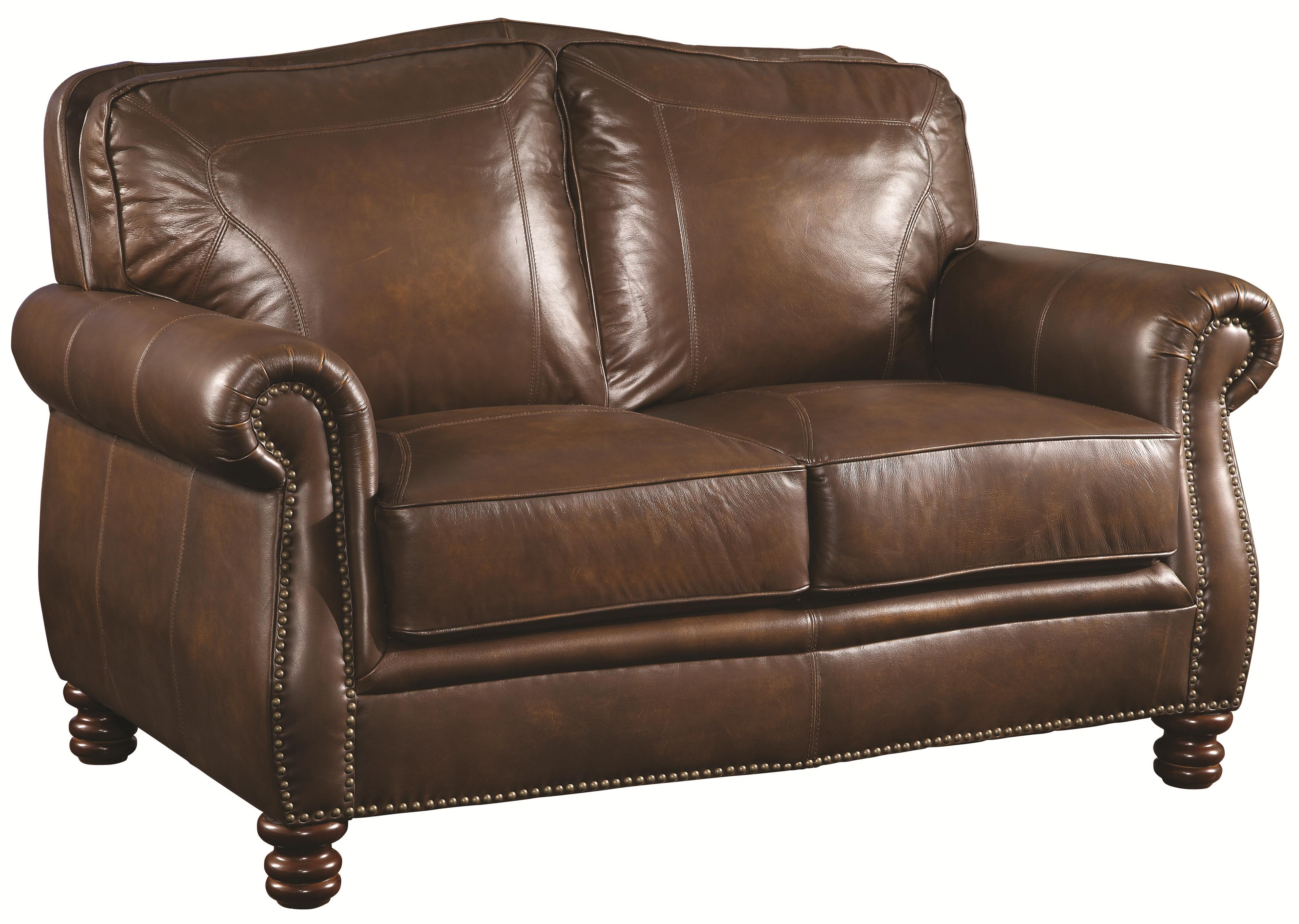 Coaster Montbrook Love Seat - Item Number: 503982-Hand Rubbed Brown