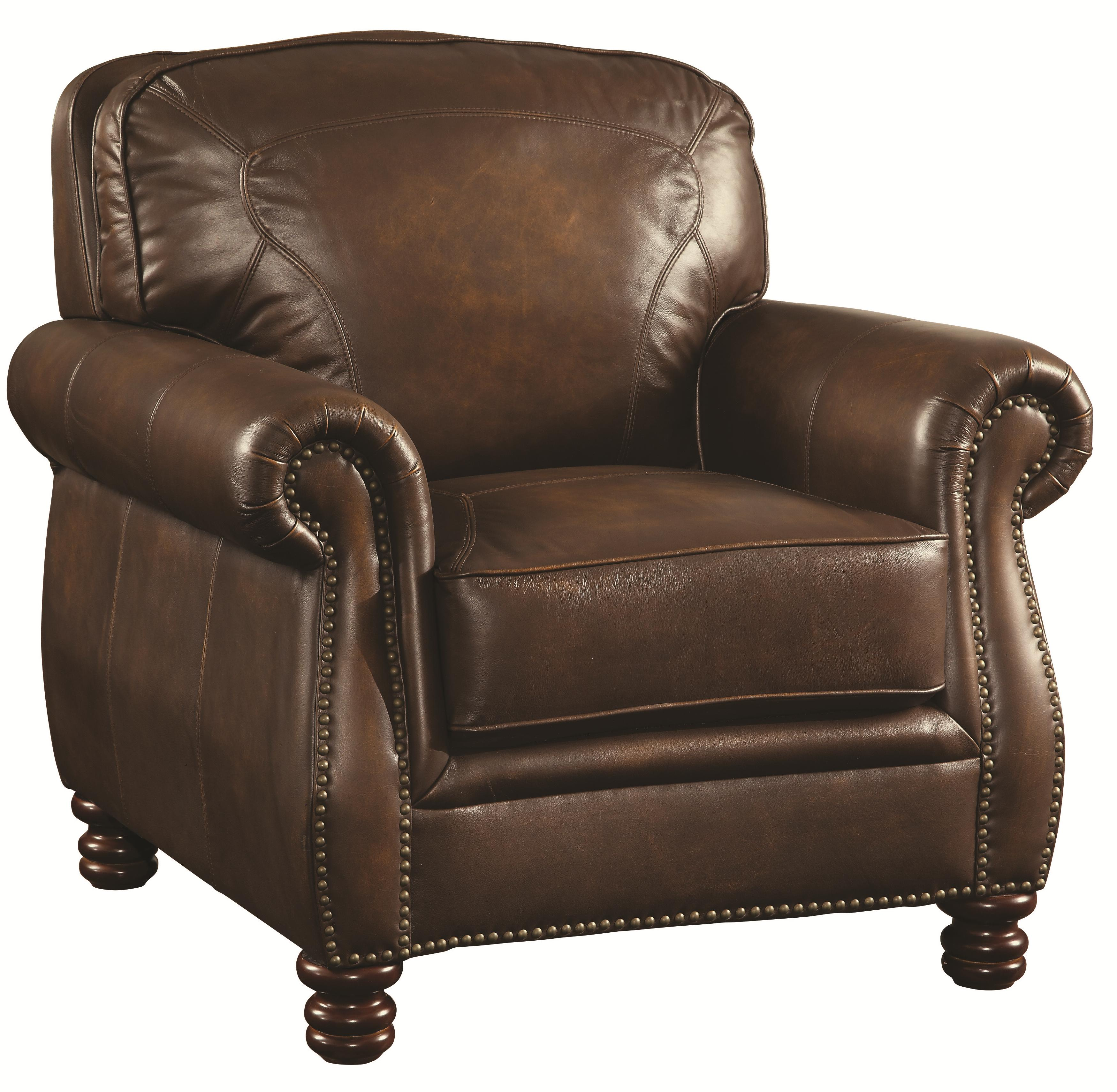 Coaster Montbrook Upholstered Chair - Item Number: 503983-Hand Rubbed Brown