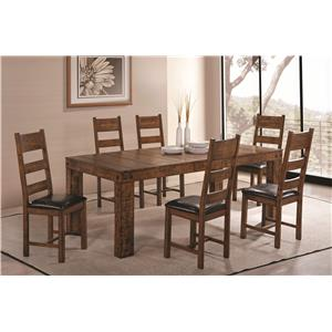 Coaster Murillo 7 Piece Dining Set with Side Chairs