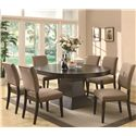 Coaster Myrtle Dining Oval Table w/ Extension - Shown with Side Chair