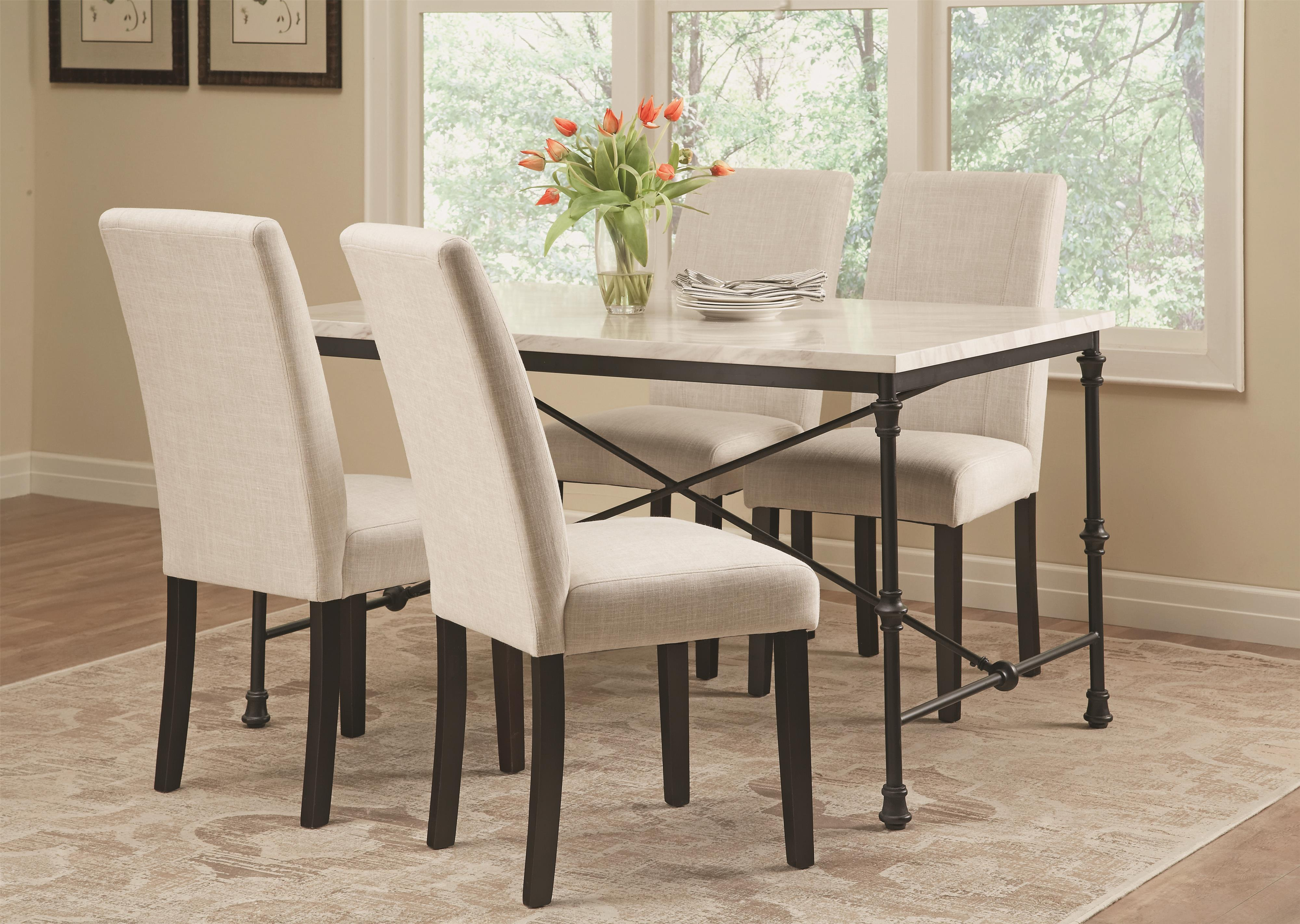 Coaster Nagel 5 Piece Industrial Table Set - Item Number: 106131+4x130061