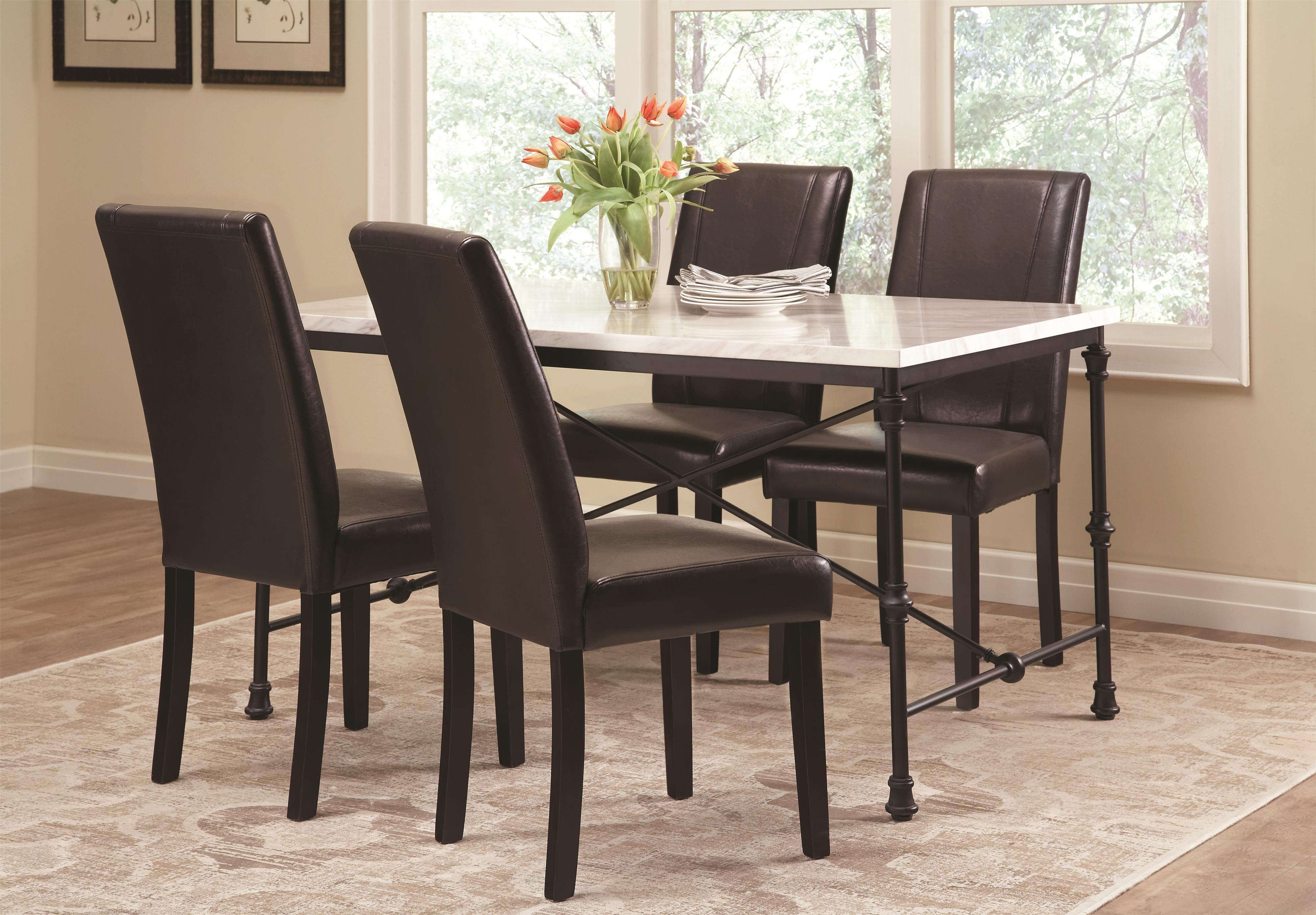 Coaster Nagel 5 Piece Industrial Table Set - Item Number: 106131+4x130062
