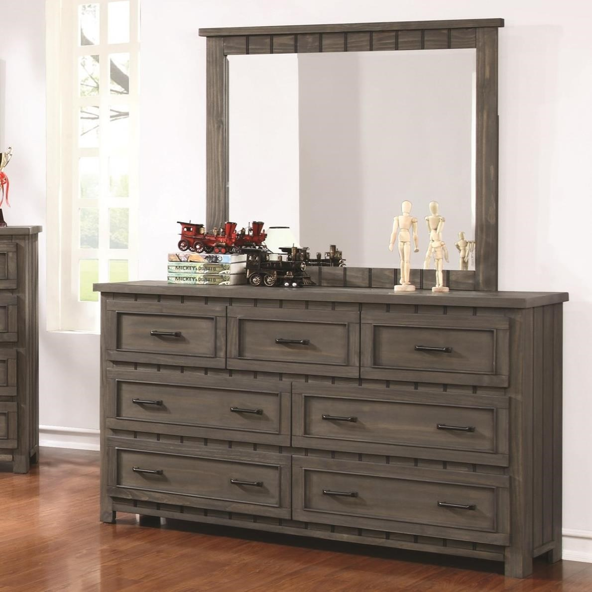 Coaster Napoleon Transitional Dresser And Mirror Set