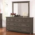 Coaster Napoleon Dresser and Mirror Set - Item Number: 400933+400934