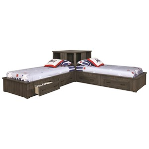 Twin Corner Bed Set
