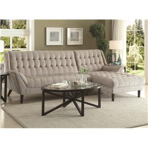 Coaster Natalia Sectional Sofa  sc 1 st  Northeast Factory Direct : sectional coach - Sectionals, Sofas & Couches