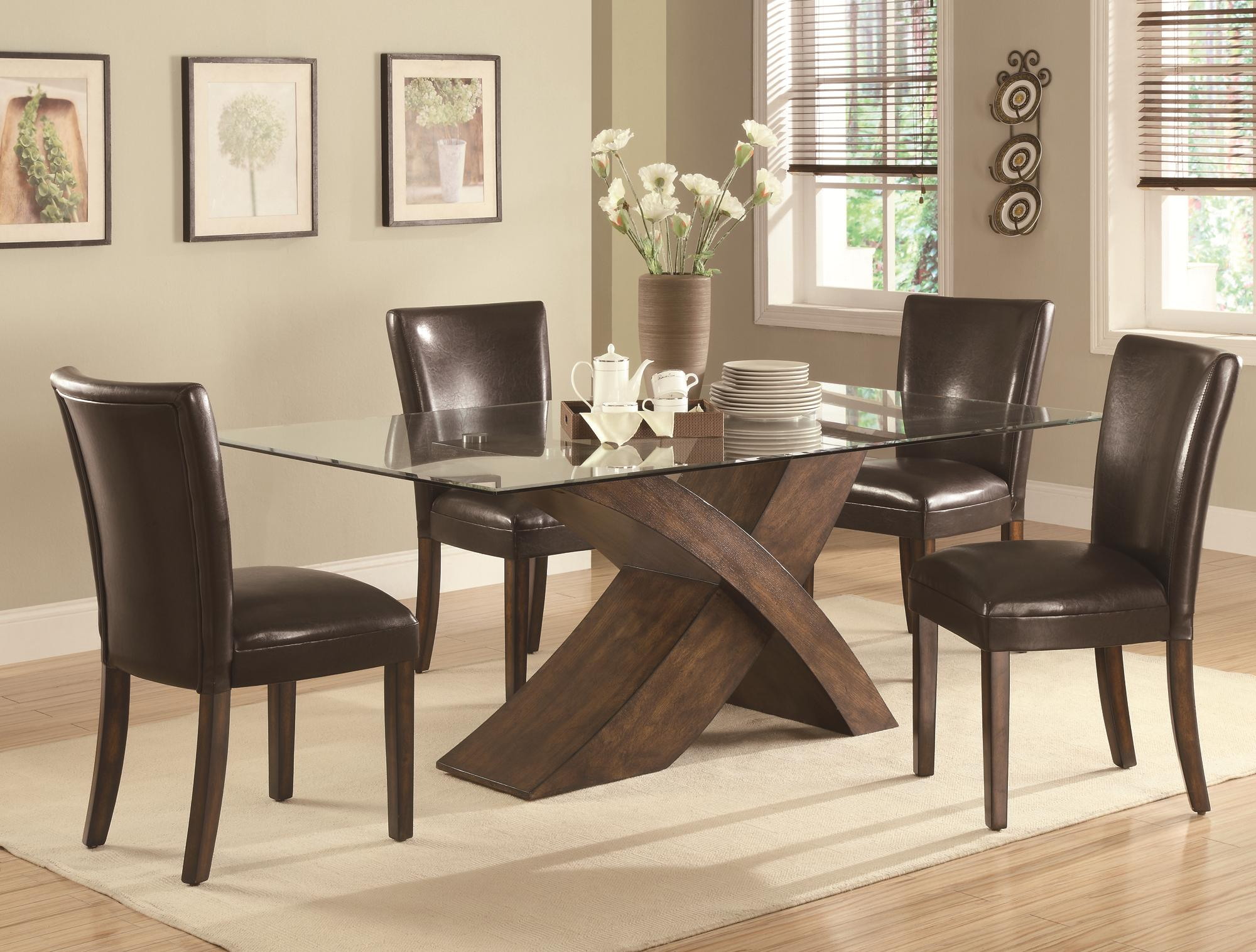 Coaster Nessa 5 Piece Table & Chair Set - Item Number: 103051+4x53