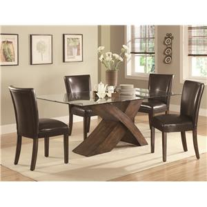 Coaster Nessa 5 Piece Table & Chair Set