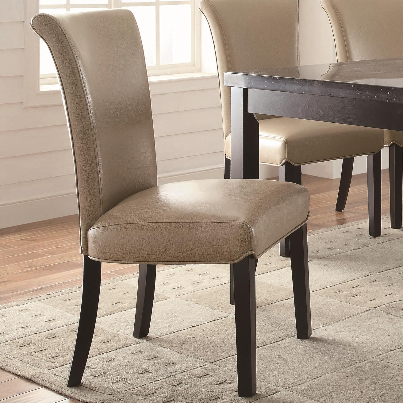 Curved Back Dining Room Bench: Coaster Newbridge Upholstered Taupe Side Chair With Curved