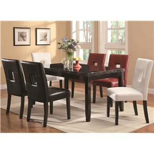 Coaster Newbridge 7 Piece Dining Table & Chair Set