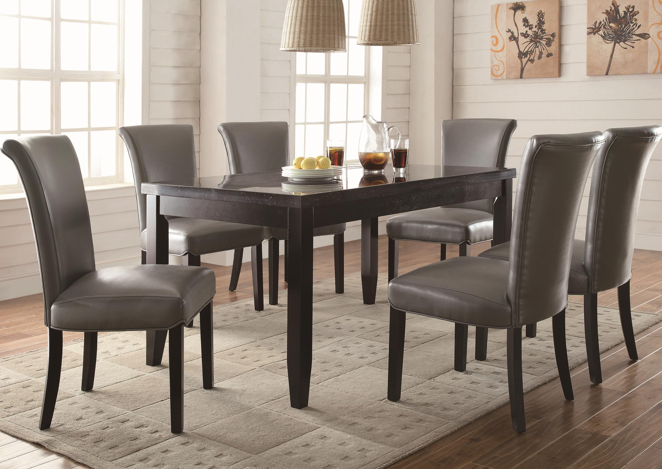 Coaster Newbridge 7 Piece Dining Table & Chair Set - Item Number: 103621+6x102882