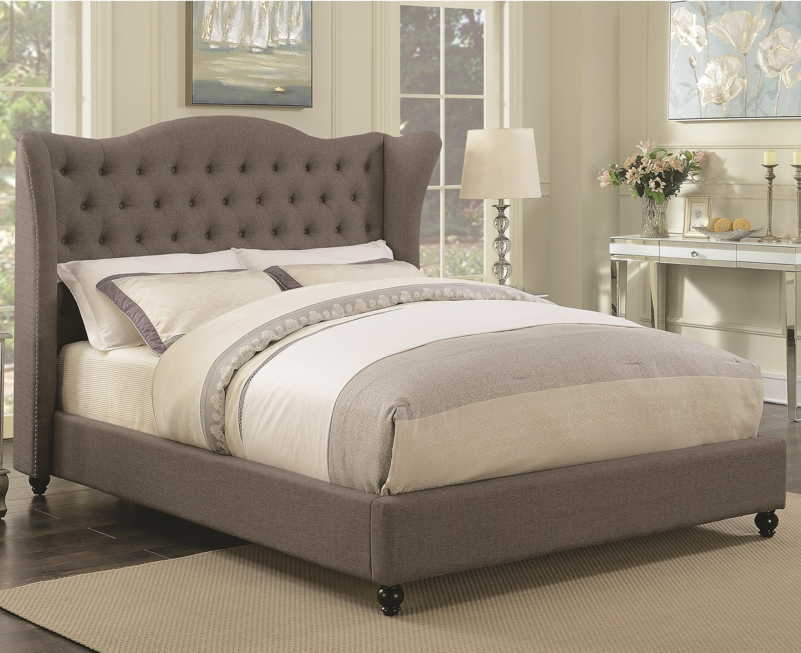 Coaster Newburgh California King Upholstered Bed - Item Number: 300739KW