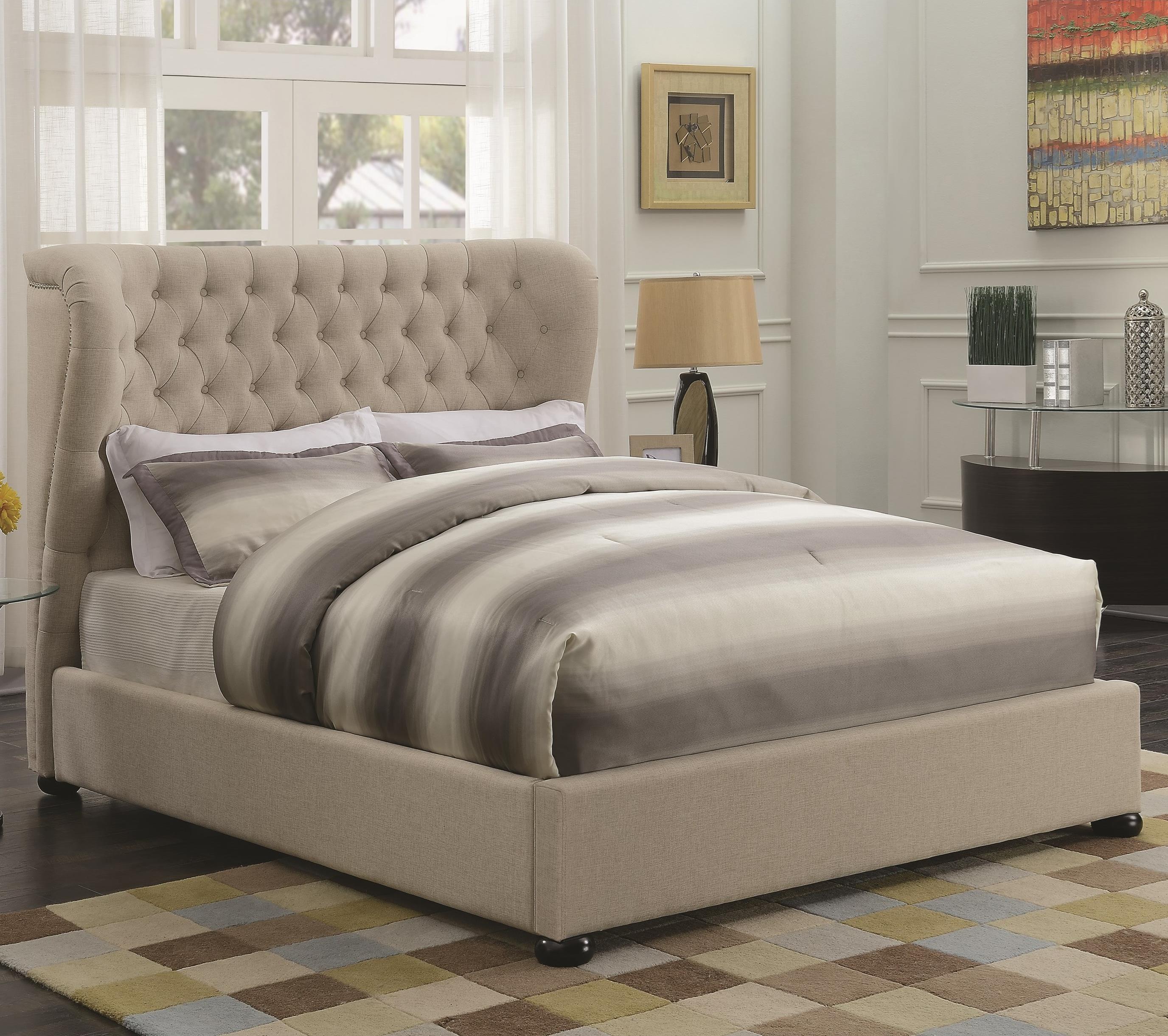 Coaster Newburgh King Upholstered Bed - Item Number: 300744KE