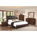 Coaster Noble 6 Drawer Dresser and Mirror with Wood Frame