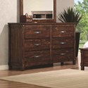 Coaster Noble Dresser with Six Dovetail Drawers
