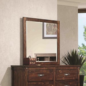 Coaster Noble Mirror with Wood Frame