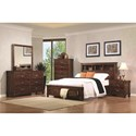 Coaster Noble King Bookcase Bed with Dovetail Drawers