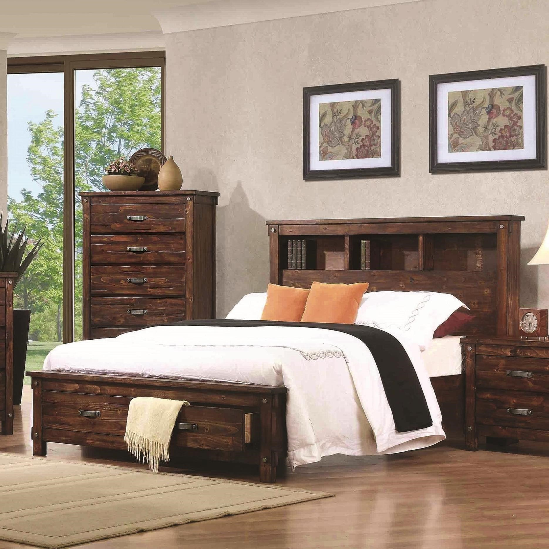 Coaster Noble B219 22 California King Bookcase Bed | Northeast