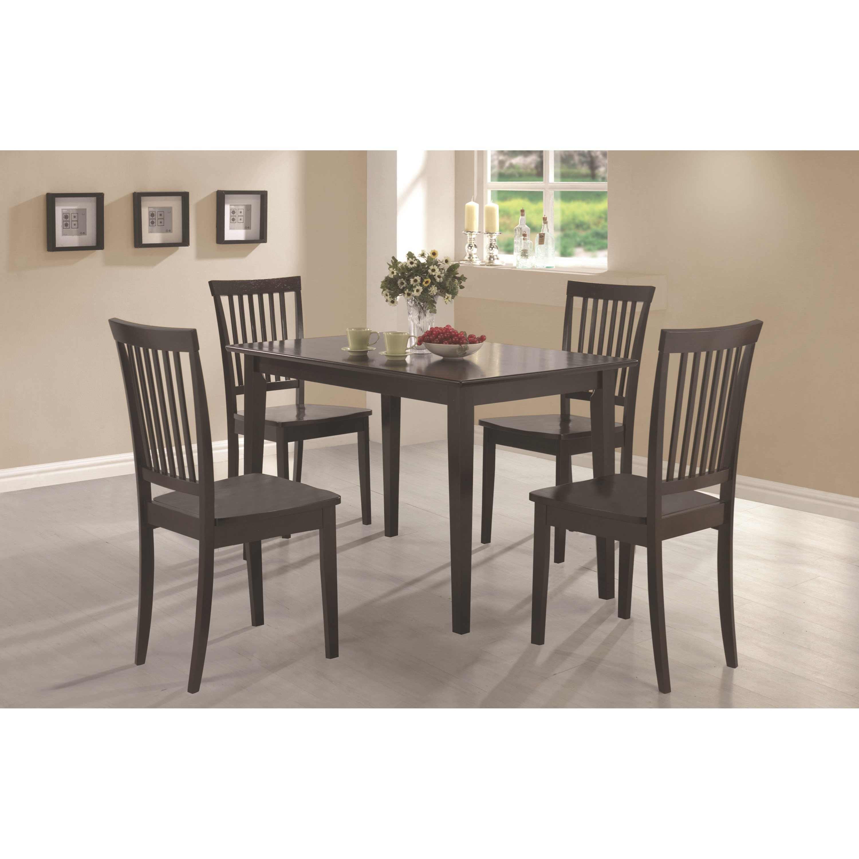 Coaster Oakdale 5 Piece Dining Set - Item Number: 150152