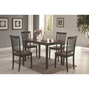 Coaster Oakdale 5 Piece Dining Set - Item Number: 150153