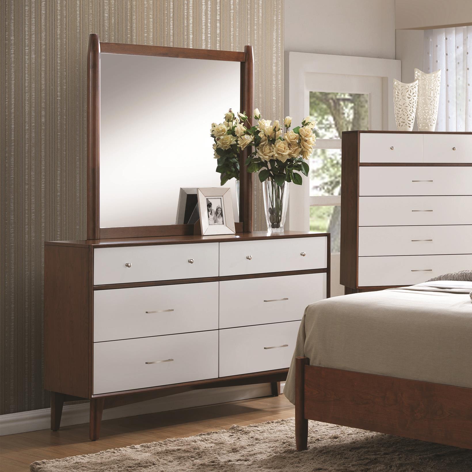Coaster Oakwood Dresser and Mirror Set - Item Number: 204303+04