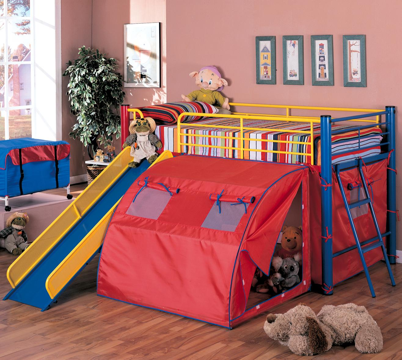 Coaster Oates Bunk Bed with Slide and Tent - Item Number: 7239