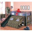 Coaster Oates Lofted Bed with Slide and Tent - 7470