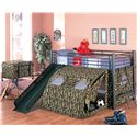 Coaster Oates Lofted Bed with Slide and Tent - 7470 - Shown with Toy Chest