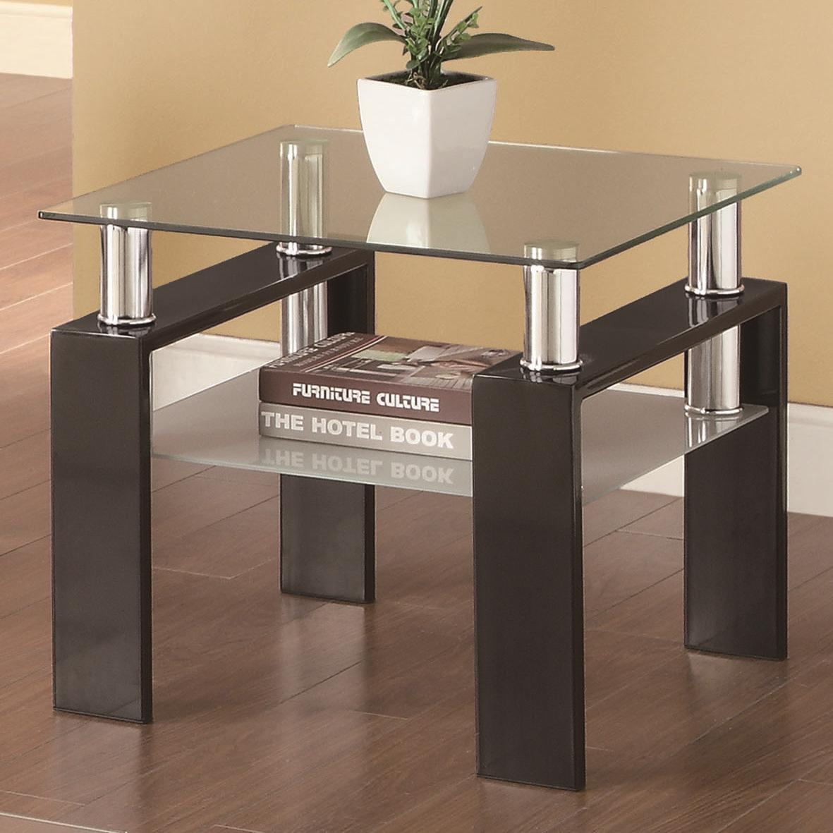 Coaster Occasional Group 702280 Tempered Glass End Table Value