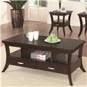Coaster Occasional Group Coffee Table with Flared Legs and 2 Drawers - 702508