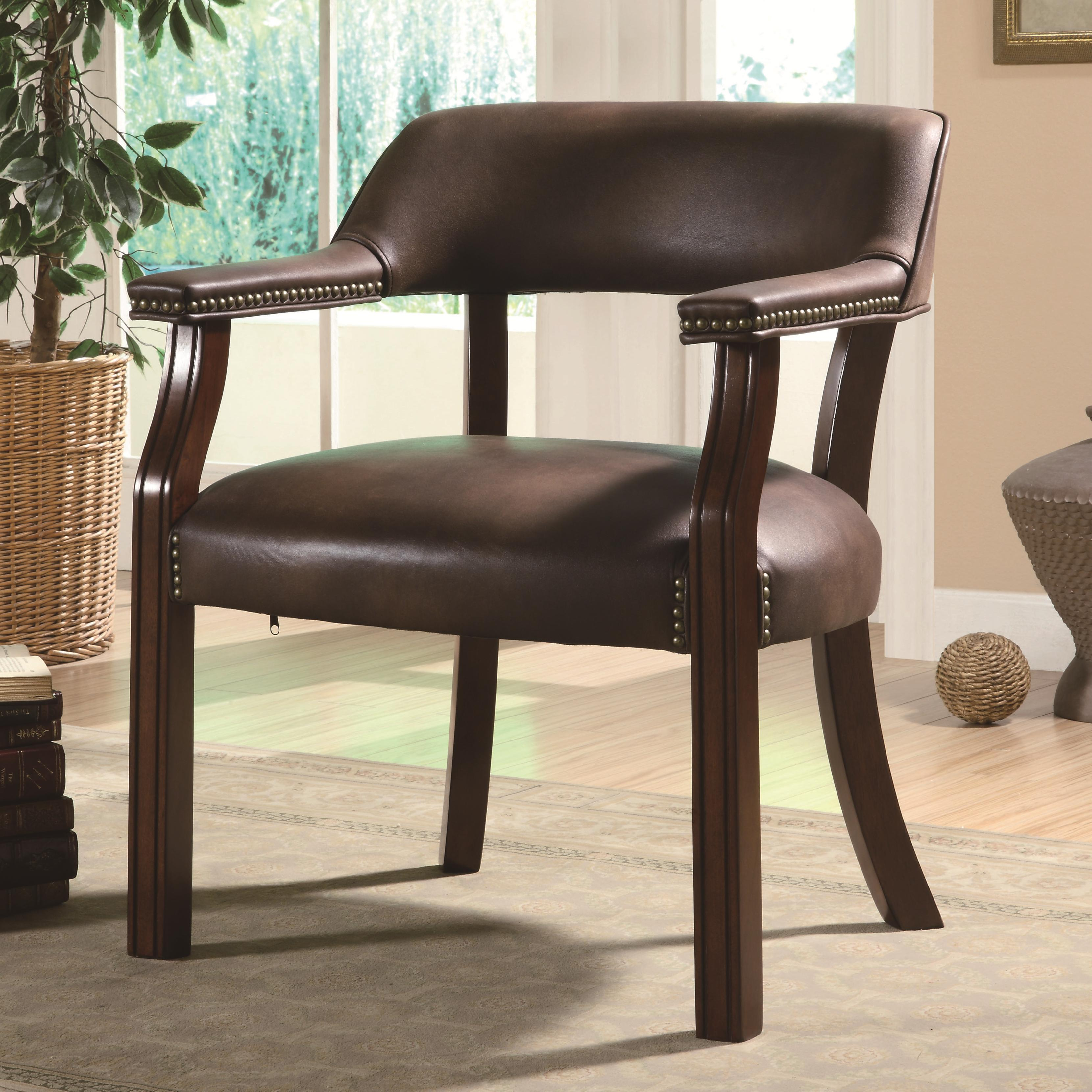 Coaster Office Chairs Office Side Chair - Item Number: 513BRN