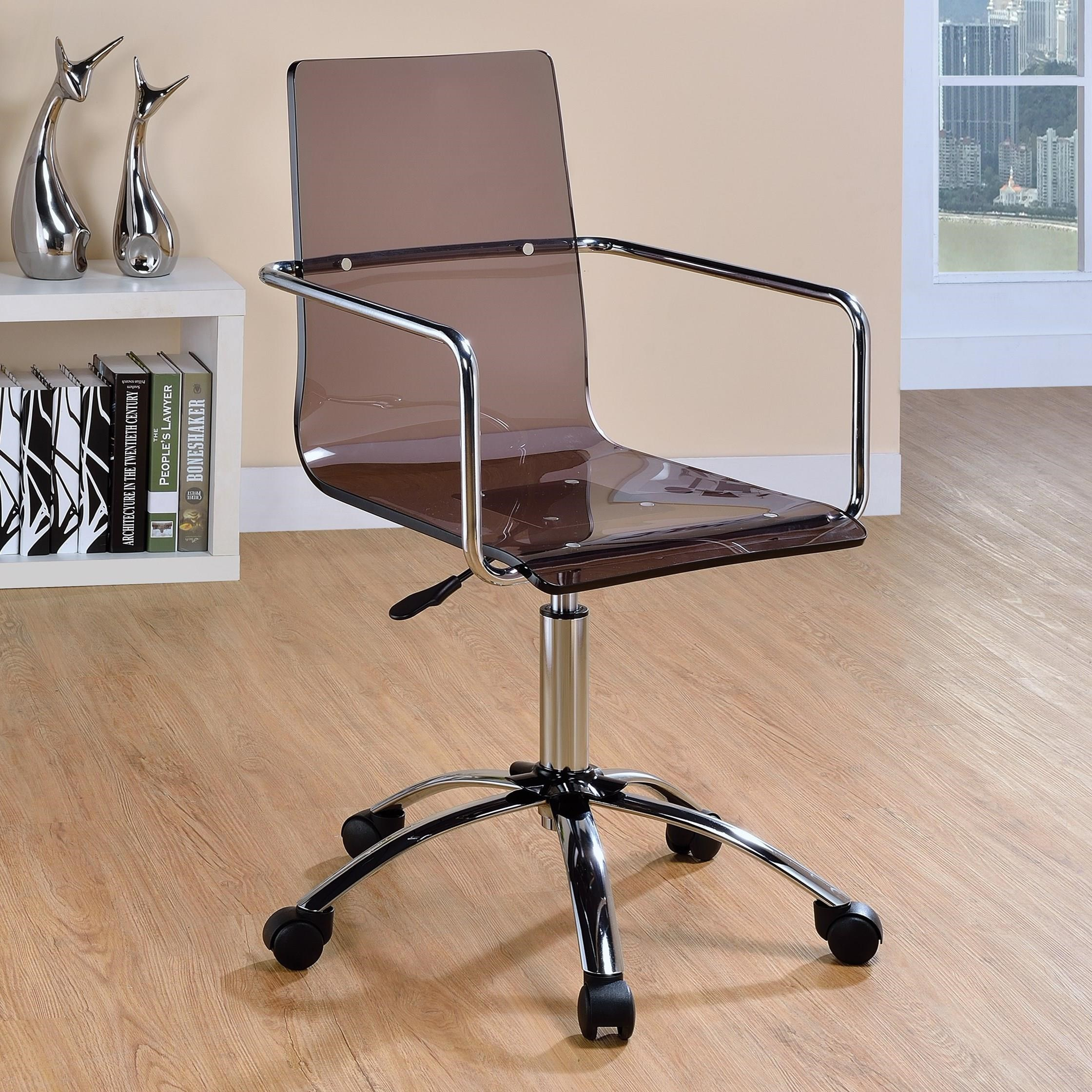 Coaster fice Chairs Acrylic fice Chair with Steel Base