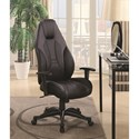 Coaster Office Chairs Black Gaming Chair with Leatherette Seat