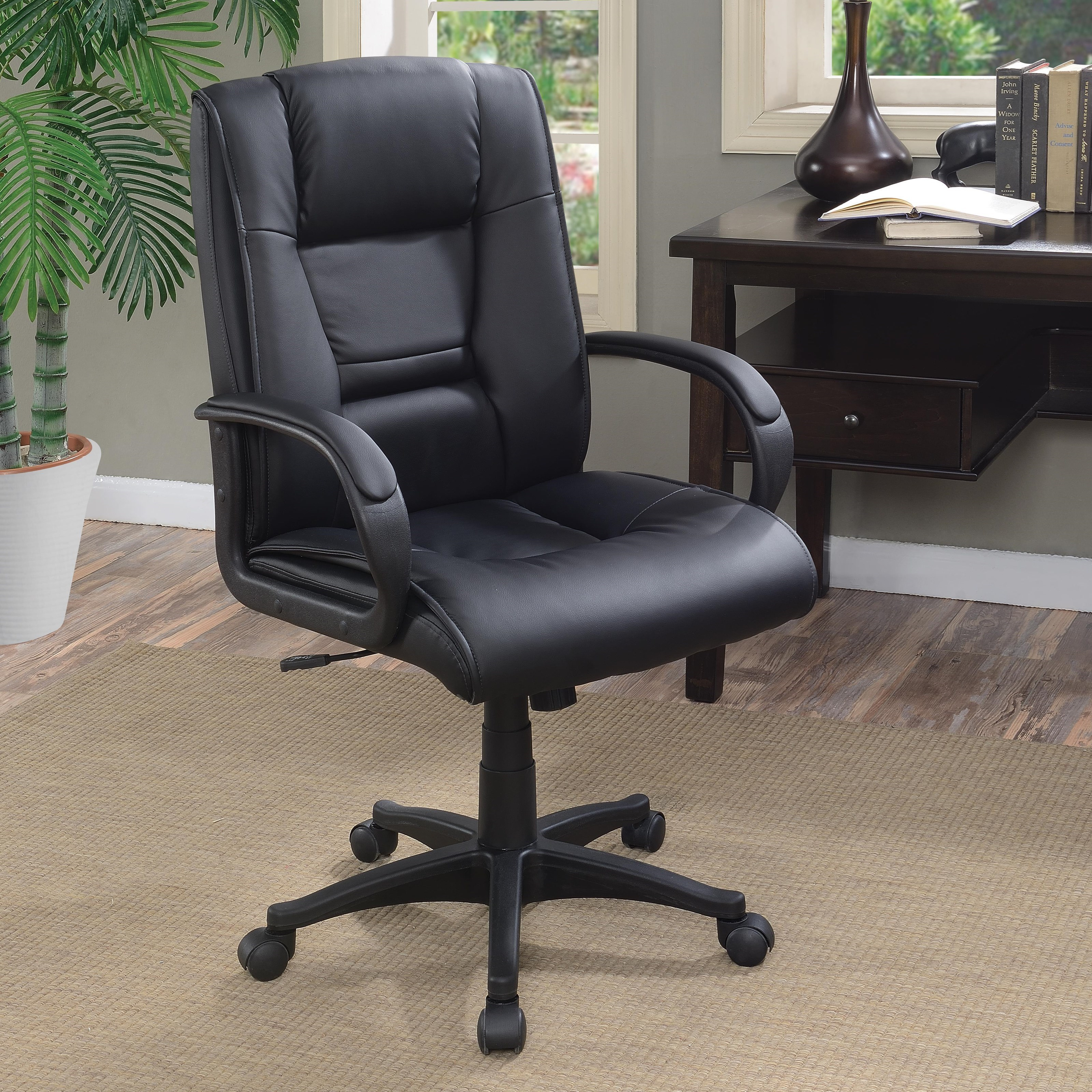 Coaster Office Chairs 881059 Black Leatherette Office