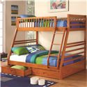 Coaster Ogletown Twin Over Full Bunk Bed