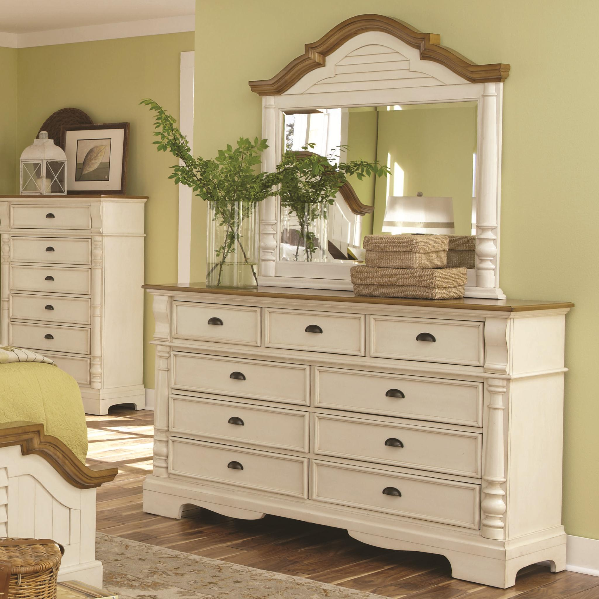 Coaster Oleta Dresser and Mirror Set - Item Number: 202883+4