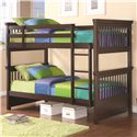 Coaster Oliver Twin Bunk Bed with Spindle Headboard and Footboard