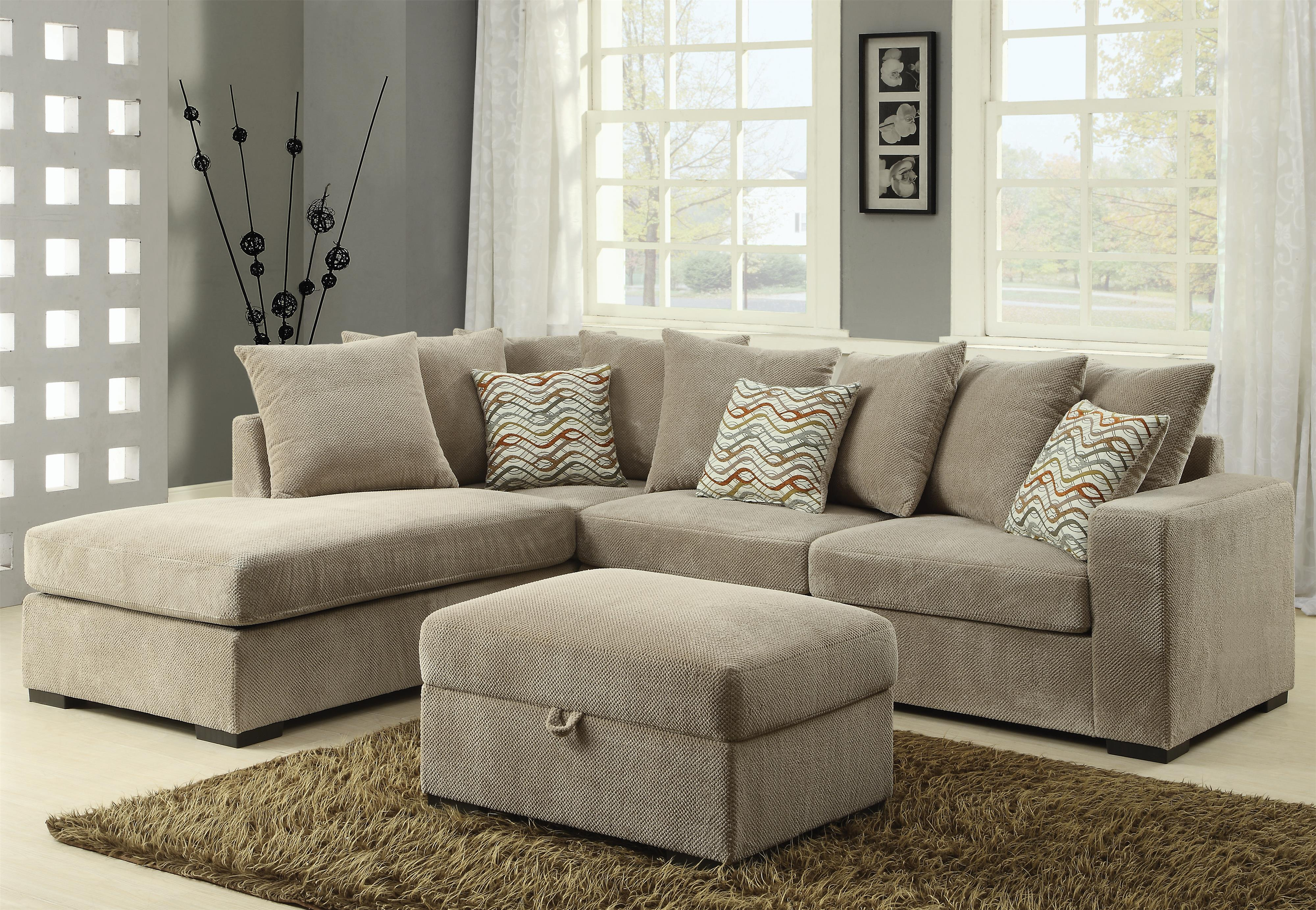 Coaster Olson Sectional - Item Number 500044 : reversible chaise sectional sofa - Sectionals, Sofas & Couches